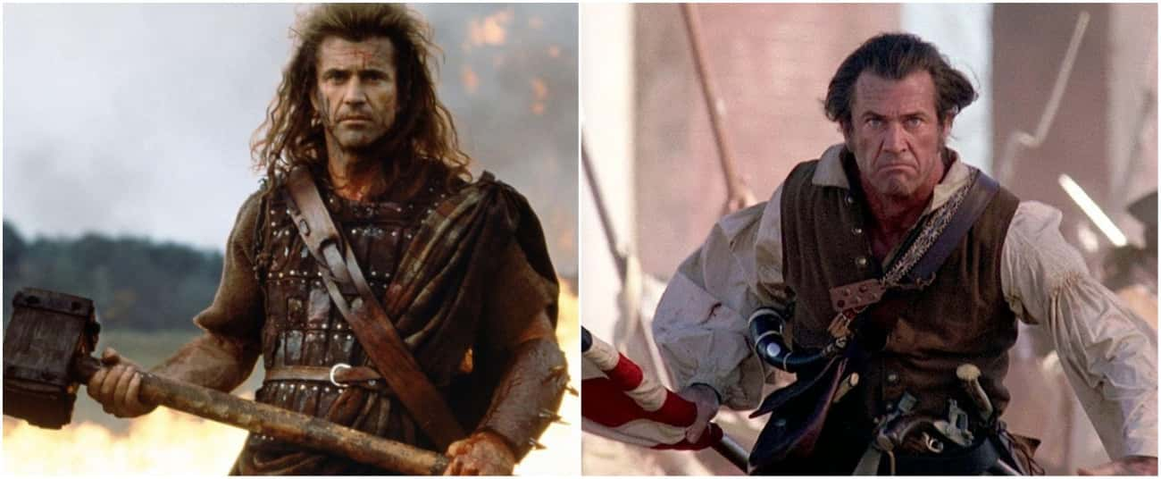 Mel Gibson Plays A Pseudo-Historical Freedom Fighter Who Impales Horses In 'Braveheart' And 'The Patriot'