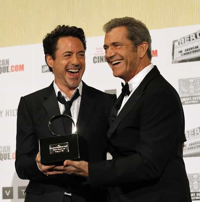 Mel Gibson is listed (or ranked) 1 on the list Famous Friends of Robert Downey Jr.