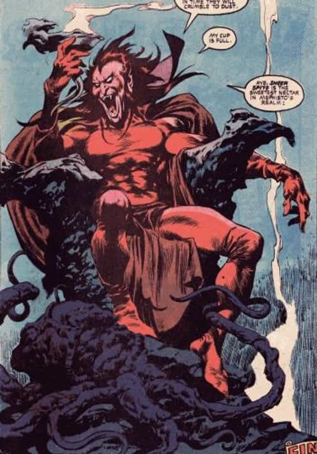Mephisto is listed (or ranked) 3 on the list The Silver Surfer's Greatest Foes