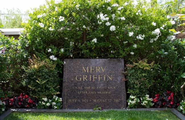 Merv Griffin is listed (or ranked) 3 on the list The Best Celebrity Tombstones