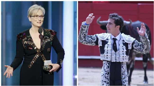 Meryl Streep is listed (or ranked) 7 on the list People Who Looked Like Things at the 2017 Golden Globes