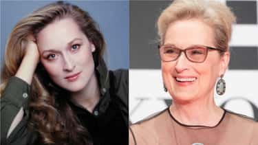 Meryl Streep, 1970s Vs. 2016 is listed (or ranked) 2 on the list How 30 A-Listers Changed Over Time