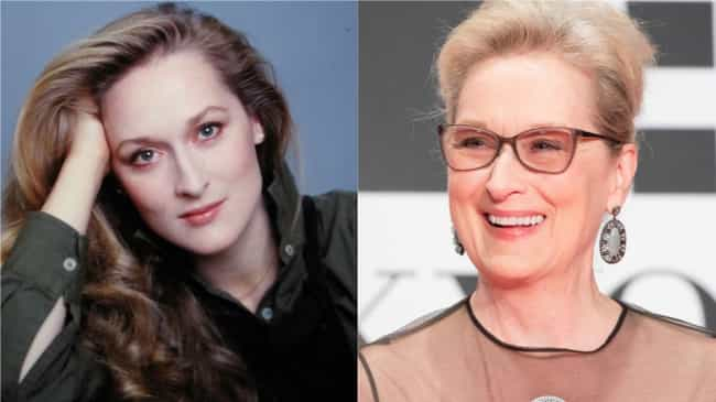 Meryl Streep is listed (or ranked) 2 on the list How 30 A-Listers Changed Over Time