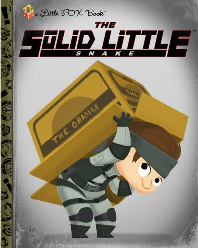 Metal Gear Solid is listed (or ranked) 4 on the list 18 Video Games Turned Into Adorable Children's Book Covers