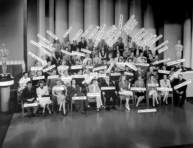 Metro-Goldwyn-Mayer Actors With Studio Head Louis B. Mayer, 1943
