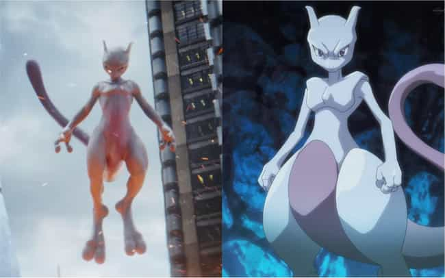 Mewtwo is listed (or ranked) 4 on the list How The 'Detective Pikachu' Pokémon Compare To Their Anime Counterparts