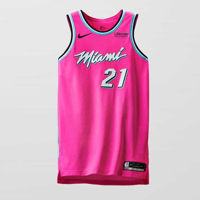 """Miami Heat is listed (or ranked) 4 on the list The Coolest NBA """"Earned Edition"""" Jerseys"""