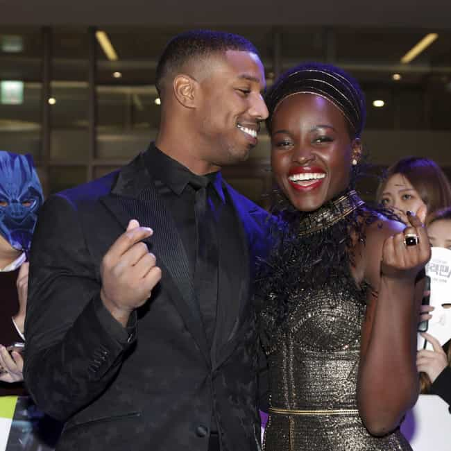 Michael B. Jordan is listed (or ranked) 2 on the list Lupita Nyong'o Loves and Hookups