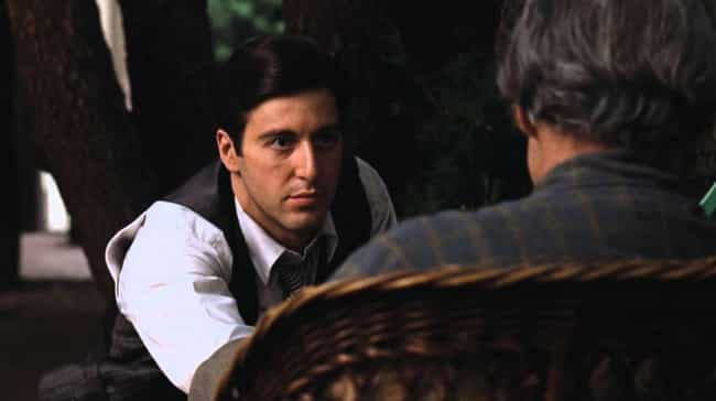 Michael Corleone is listed (or ranked) 3 on the list 8 Stars Whose Unpopular Acting Methods Created Hugely Popular Characters
