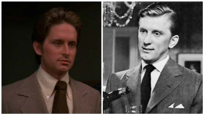 Michael Douglas is listed (or ranked) 5 on the list 18 Photos Of Celebrities And Their Famous Parents At The Same Age