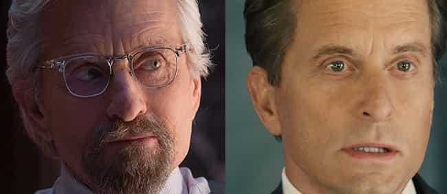 Michael Douglas is listed (or ranked) 3 on the list Actors And Actresses Who Look Crazy Young In Movies And TV Thanks To CGI