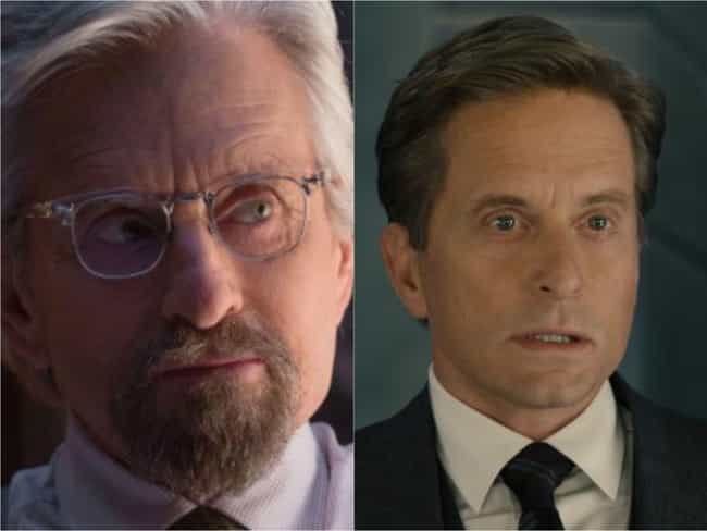 Michael Douglas is listed (or ranked) 2 on the list Actors And Actresses Who Look Crazy Young In Movies And TV Thanks To CGI