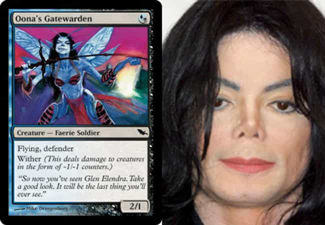 Michael Jackson is listed (or ranked) 1 on the list 23 Magic Cards That Look Like Celebrities