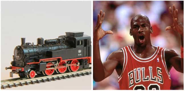 Michael Jordan is listed (or ranked) 3 on the list 30 Famous Model Train Hobbyists
