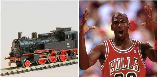 Michael Jordan is listed (or ranked) 3 on the list Famous Model Train Hobbyists