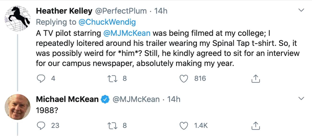 Michael McKean is listed (or ranked) 4 on the list People Are Sharing Their Weird Celebrity Encounters, And They're Wild