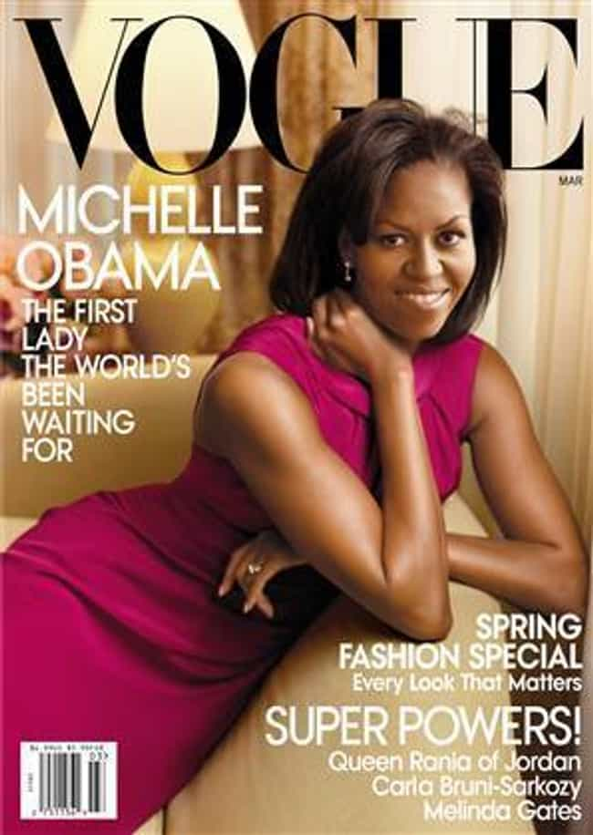 Michelle Obama is listed (or ranked) 8 on the list The Best Vogue Magazine Covers