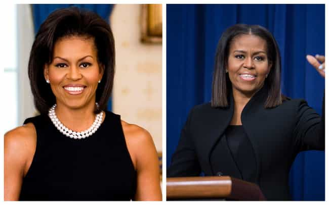 Michelle Obama is listed (or ranked) 1 on the list Pictures Of The First Ladies At The Beginning And End Of Their Tenures In The White House