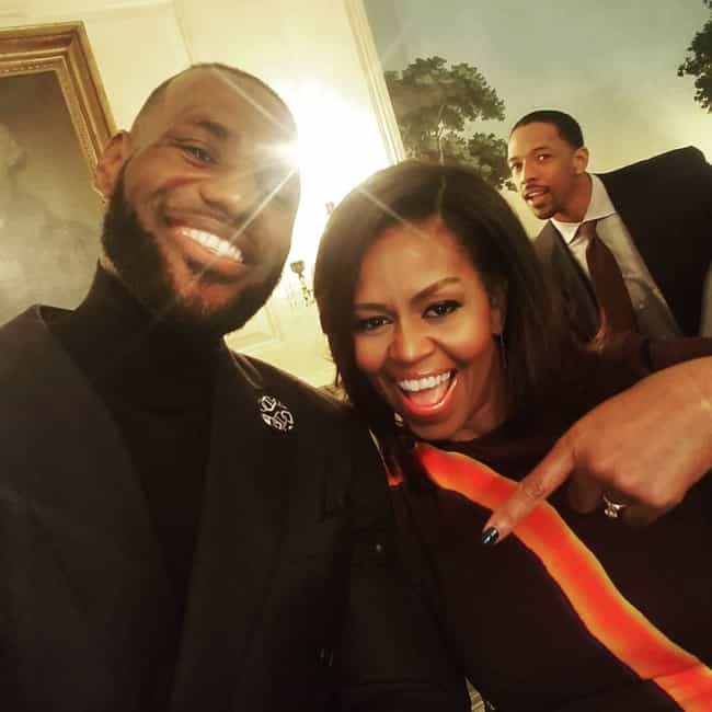 Michelle Obama is listed (or ranked) 1 on the list The Many Celebrity Friends Of LeBron James