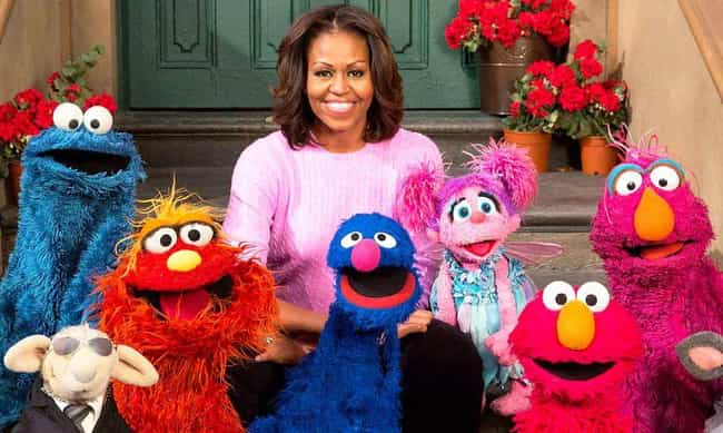 Michelle Obama is listed (or ranked) 1 on the list Celebrities Share Their Experiences Being On 'Sesame Street'