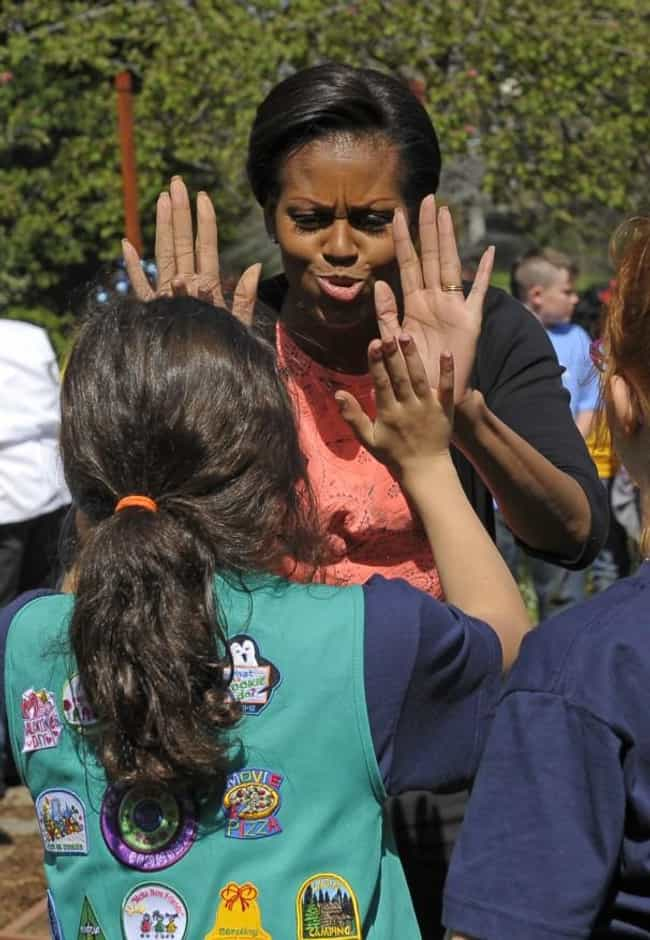 Michelle Obama is listed (or ranked) 3 on the list 52 Famous Women Who Used to Be Girl Scouts