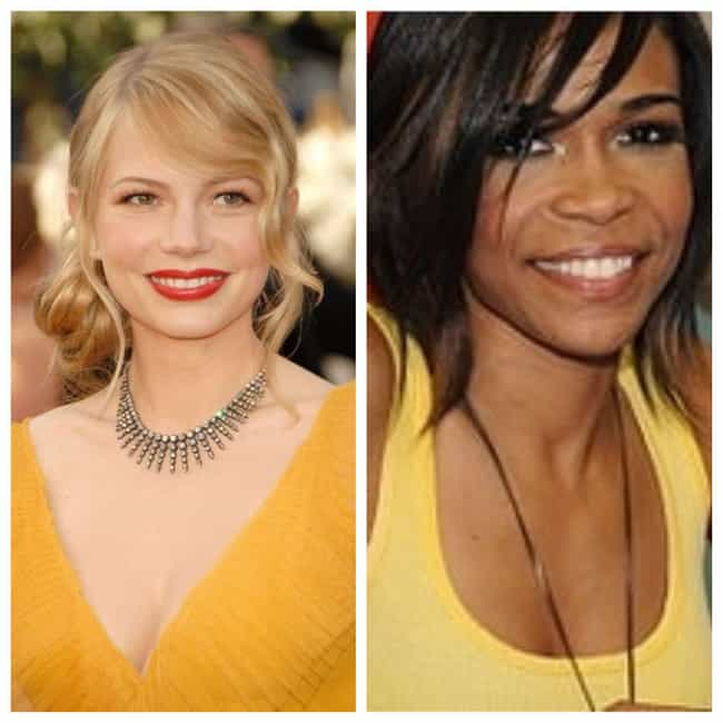 Michelle Williams is listed (or ranked) 4 on the list Famous People with the Same Real Name