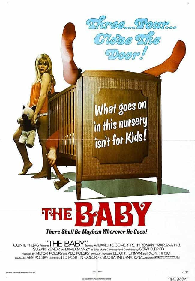 The Baby is listed (or ranked) 4 on the list The Best Horror Movies About Babies