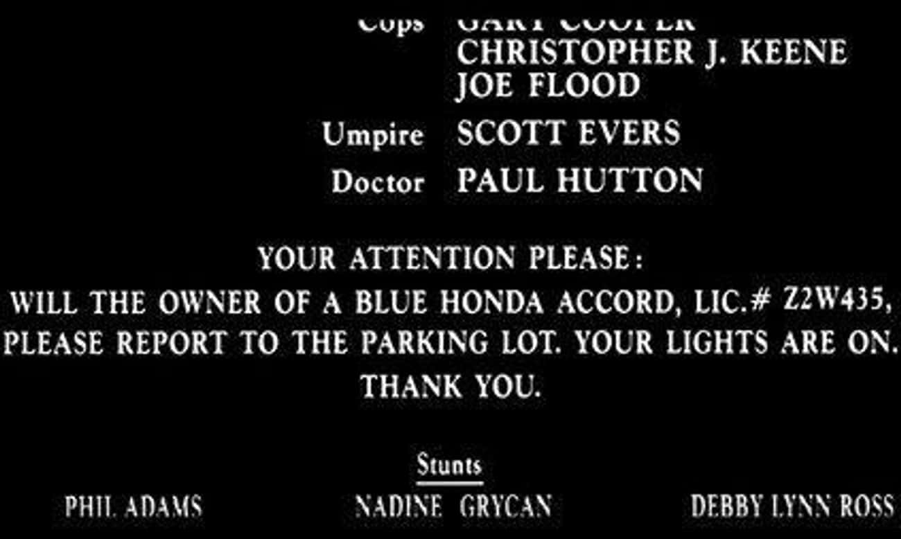 The Credits Of Naked Gun 33 1/ is listed (or ranked) 3 on the list Genius Jokes Hidden In The Credits Of Your Favorite Movies