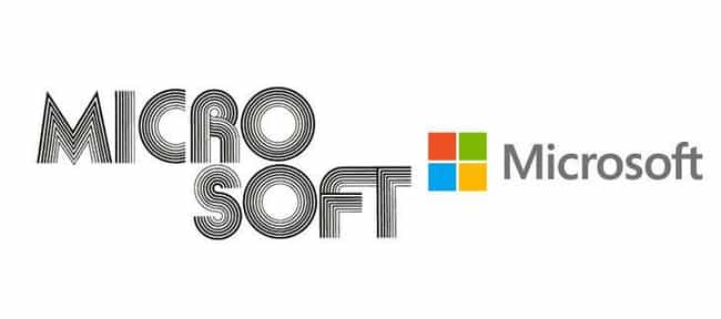 Microsoft Corporation is listed (or ranked) 3 on the list 15 Famous Corporate Logos Then And Now