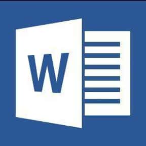 Microsoft Word is listed (or ranked) 16 on the list Word Processor Programs, Applications, Systems and Platforms