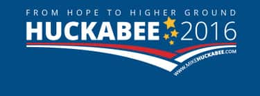 Mike Huckabee is listed (or ranked) 1 on the list The Best Logos in the 2016 Presidential Election