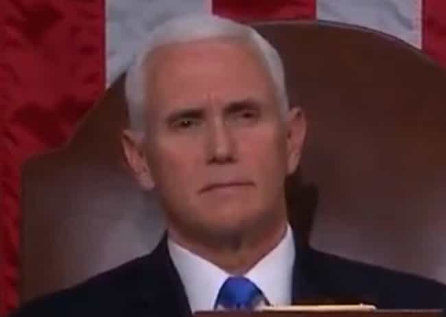 Mike Pence is listed (or ranked) 2 on the list US Politicians' Reactions To President Trump's State Of The Union
