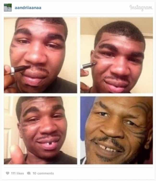Mike Tyson is listed (or ranked) 3 on the list 60+ Unbelievable #MakeupTransformations