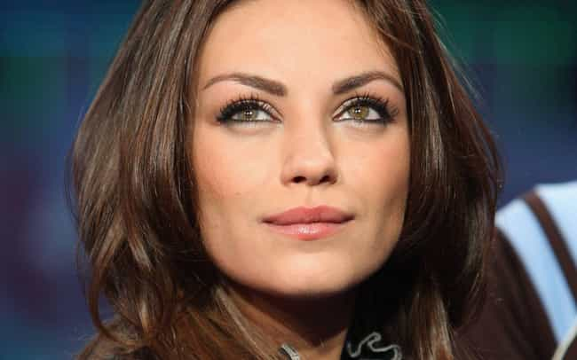 Mila Kunis is listed (or ranked) 4 on the list Celebrities With Heterochromia Iridis