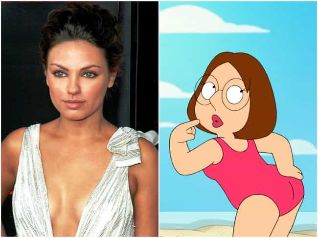 Mila Kunis is listed (or ranked) 2 on the list 20 Famous People Who Voiced Cartoon Characters