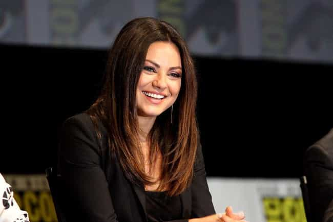 Mila Kunis is listed (or ranked) 4 on the list Celebrities Who Dropped Out of College
