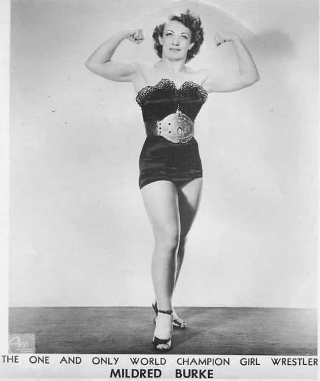 Mildred Burke is listed (or ranked) 1 on the list Evolution of Female Pro Wrestlers