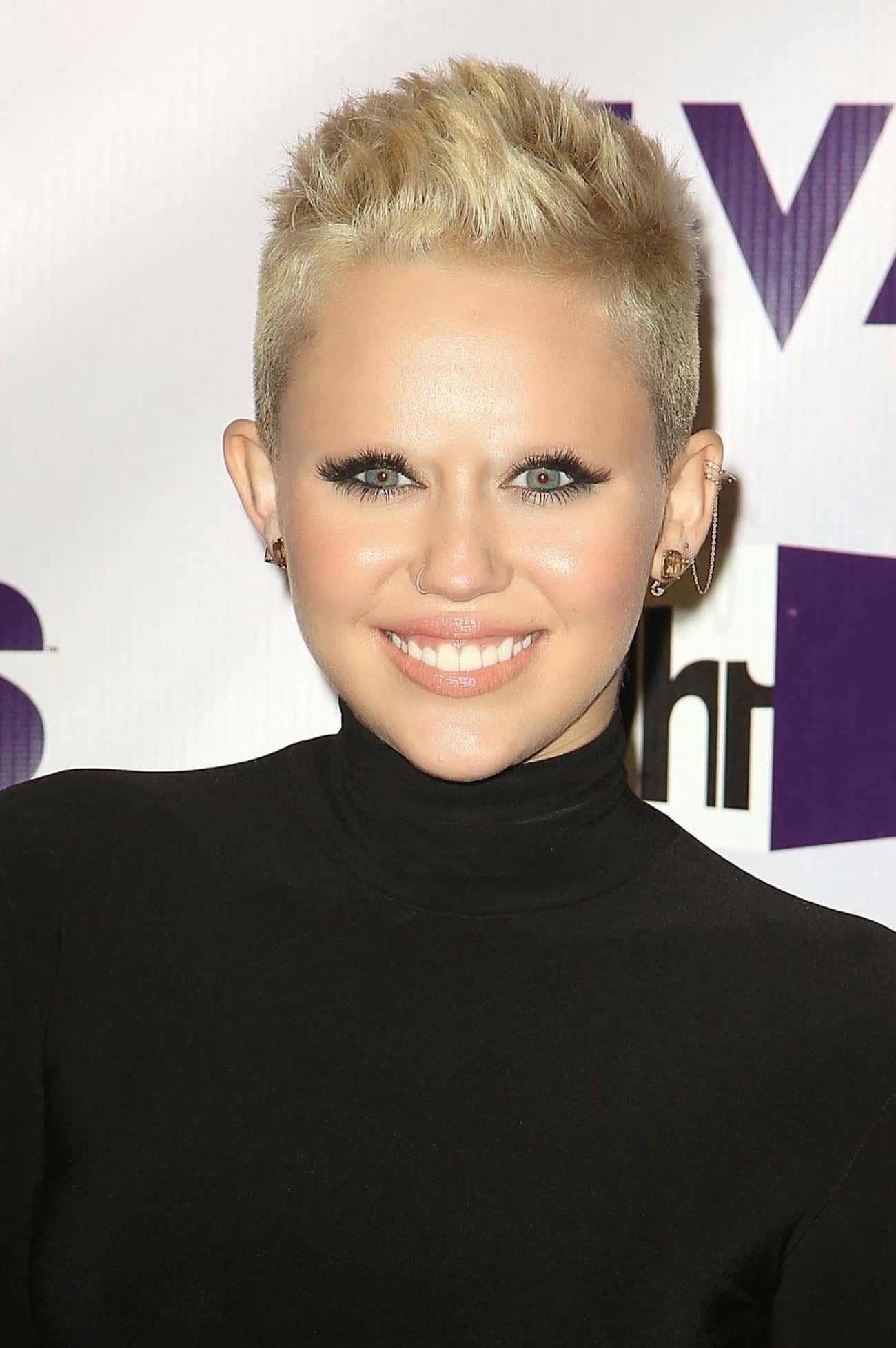 Miley Cyrus is listed (or ranked) 2 on the list 22 Hilarious Pictures of Actors with No Eyebrows