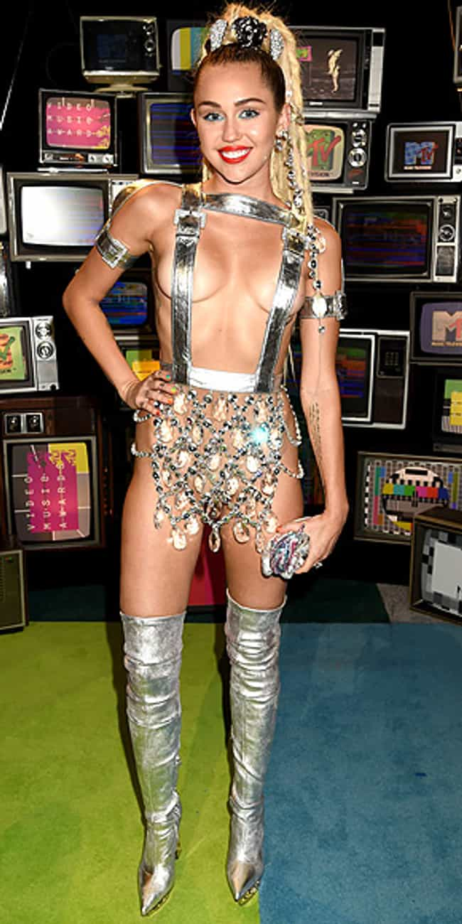 Miley Cyrus is listed (or ranked) 1 on the list The Most Outrageous Outfits Ever Worn to the MTV VMAs
