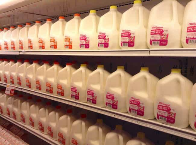 Milk is listed (or ranked) 4 on the list The Most Commonly Recalled Foods From Grocery Stores (That You Keep Buying Anyway)