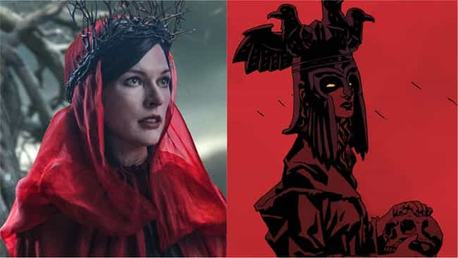 Milla Jovovich is listed (or ranked) 4 on the list 'Hellboy' Actors Vs. The Comics Characters They're Playing