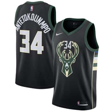 """Milwaukee Bucks is listed (or ranked) 2 on the list The Coolest NBA """"Statement Edition"""" Jerseys"""