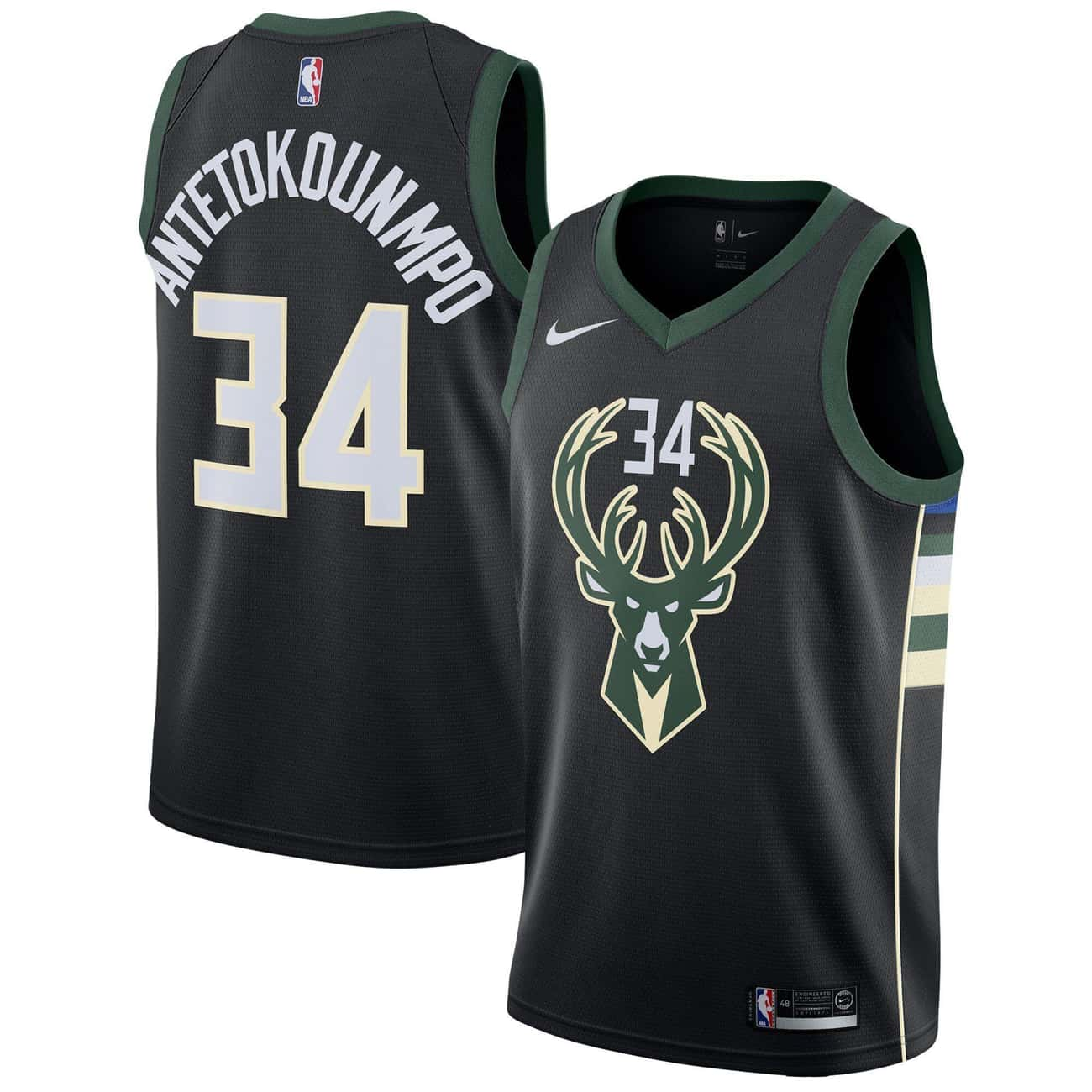"Milwaukee Bucks is listed (or ranked) 2 on the list The Coolest NBA ""Statement Edition"" Jerseys"