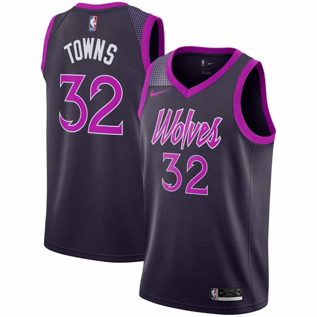 "Minnesota Timberwolves is listed (or ranked) 3 on the list The Coolest NBA ""City Edition"" Jerseys"