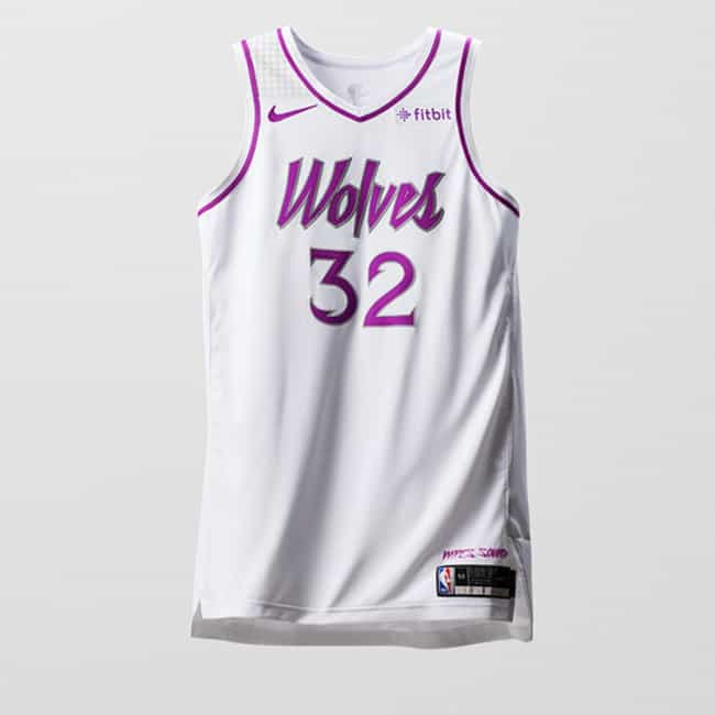 """Minnesota Timberwolves ... is listed (or ranked) 1 on the list The Coolest NBA """"Earned Edition"""" Jerseys"""
