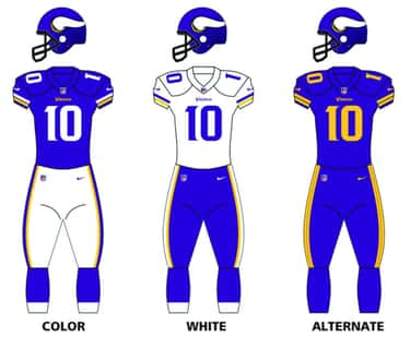 Minnesota Vikings (2013) is listed (or ranked) 1 on the list The Best Uniforms In The NFL