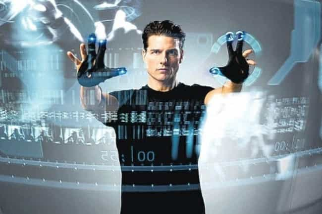 Minority Report is listed (or ranked) 8 on the list The Dumbest Technology In Science Fiction