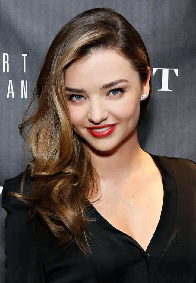 Miranda Kerr is listed (or ranked) 1 on the list Beautiful Celebrity Women with Cute Dimples