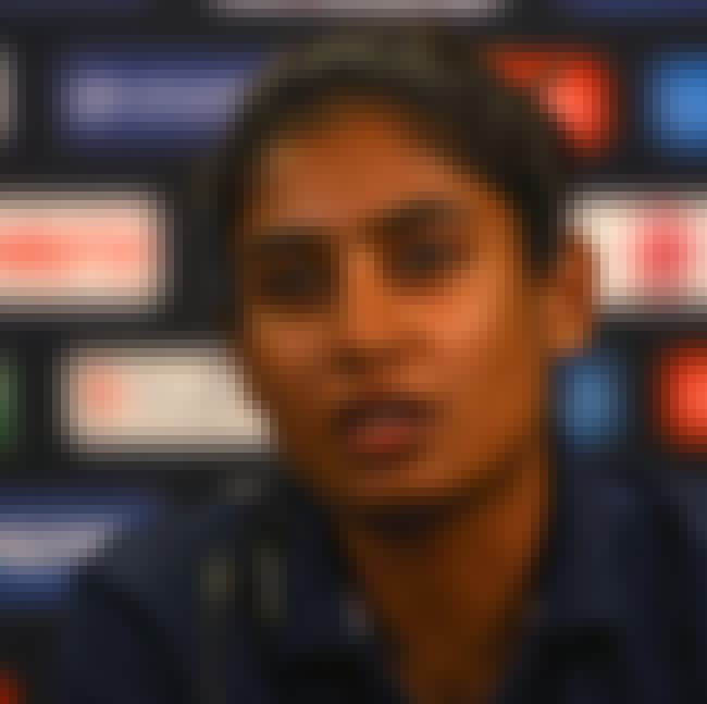Mithali Raj is listed (or ranked) 3 on the list Famous Female Cricketers