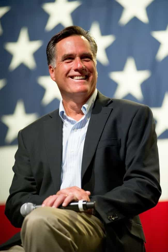 Mitt Romney is listed (or ranked) 4 on the list 50+ Practicing Mormon Celebrities